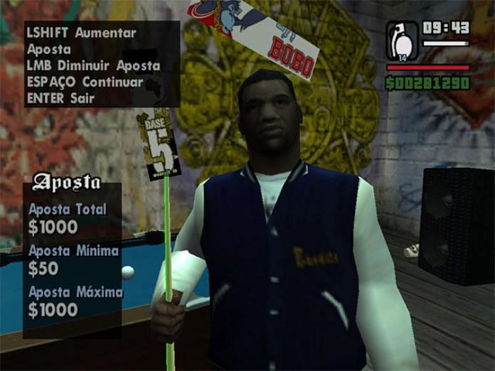 Oponente nos jogos de sinuca em GTA San Andreas