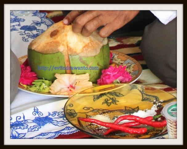 kelapa mudah dalam prosesi aqiqah di minangkabau