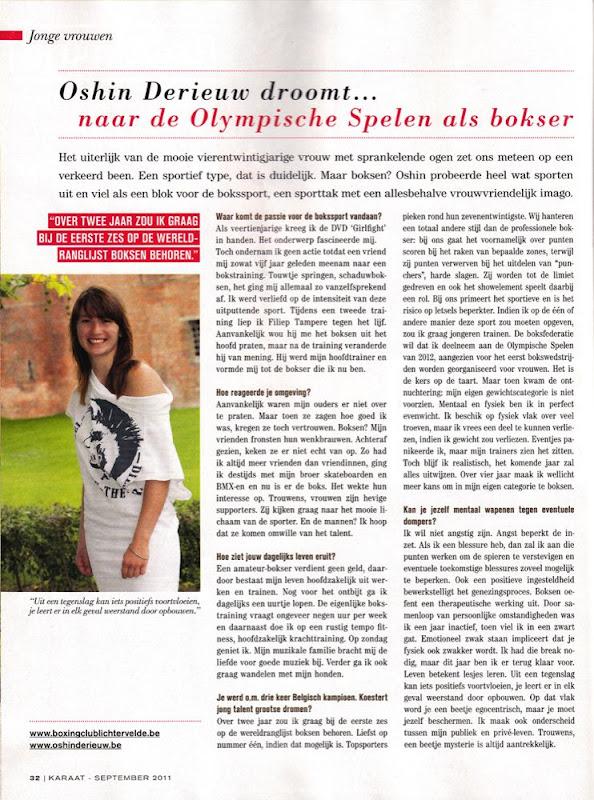Oshin Derieuw droomt naar de Olympische spelen als bokser