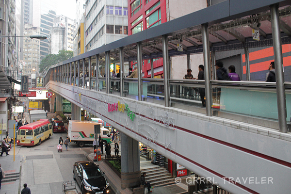 soho walkway, soho escalator hong kong, hong kong's sky walkwaysd, hong kong top attractions