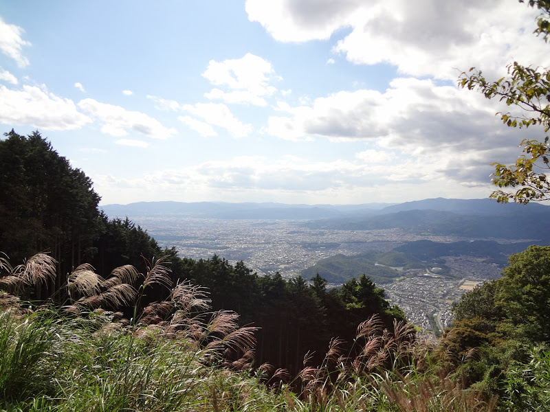 View of the Kyoto area from Mount Hiei