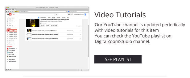 Video Gallery WordPress Plugin /w YouTube, Vimeo, Facebook pages 16