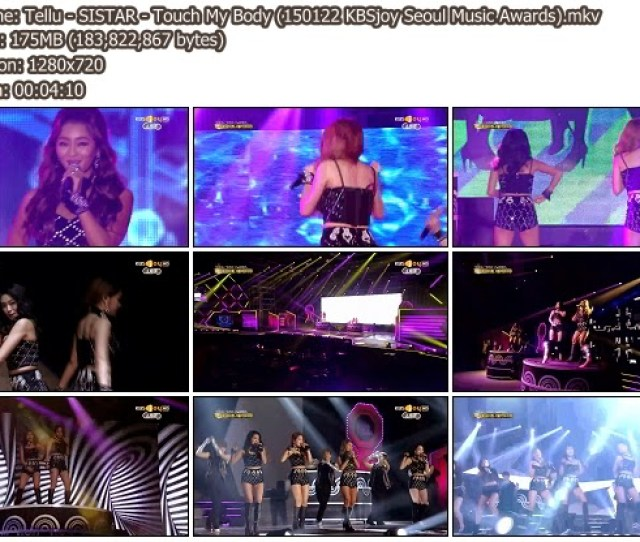 Download Music Video File Perf Sistar Touch My Body Kbsjoy Seoul Music Awards  Mib Hosted Mf Mega