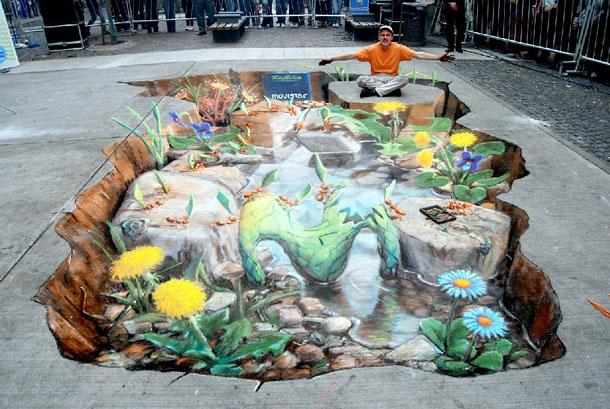 3D Sidewalk Chalk Art 4 Of The Worlds Most Talented