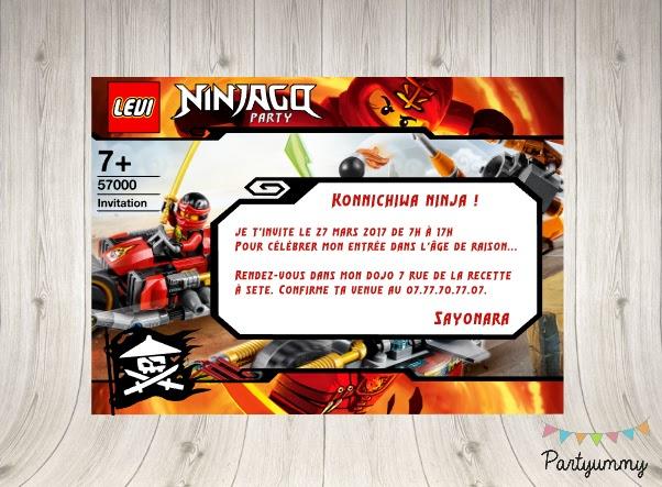 carte anniversaire ninjago gratuit
