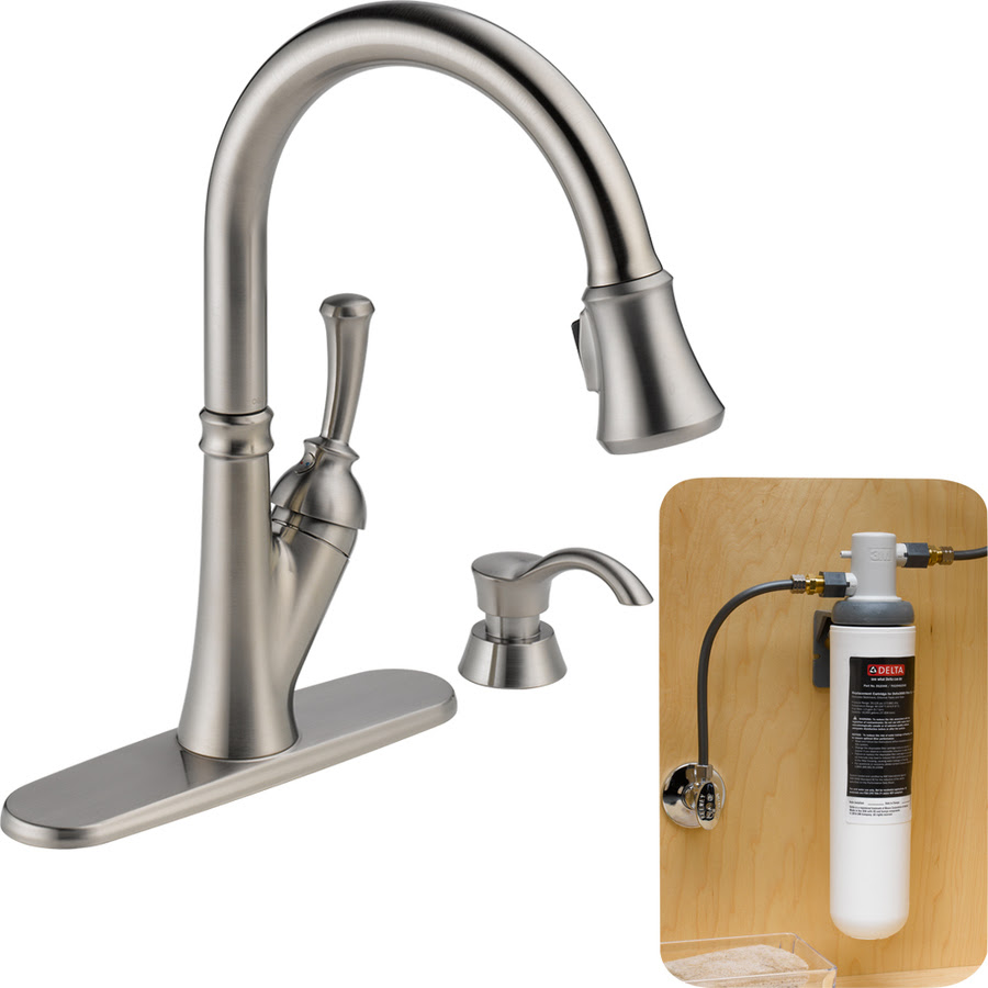 nylon hose delta water filter faucet