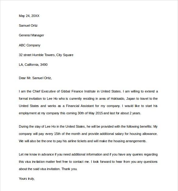 germany business visa invitation letter