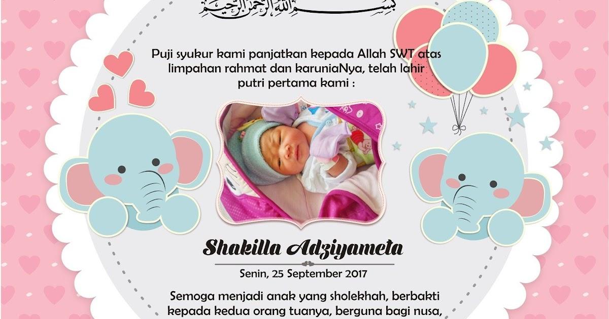 Contoh Kartu Nama Syukuran Bayi Ramadhan Op
