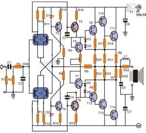 200 Watt Power Amplifier Circuit | Circuit Diagram Images