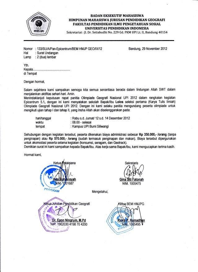 Koleksi Kumpulan Contoh Surat Undangan Resmi Organisasi