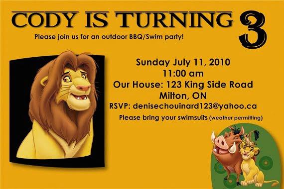 lion king invitation template free