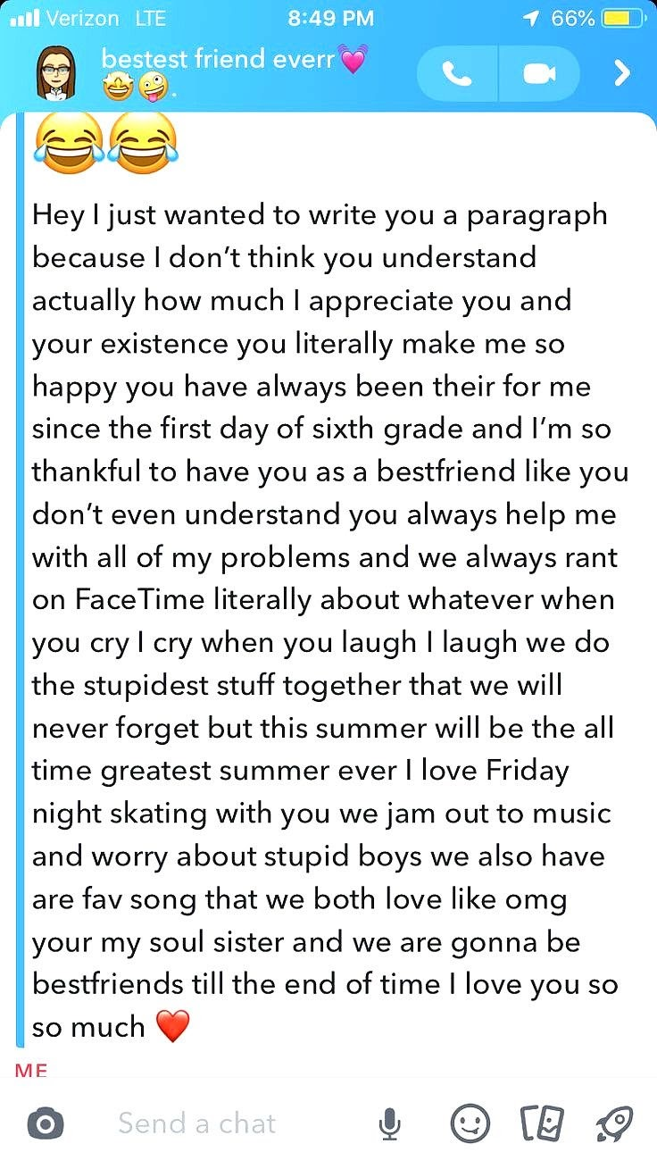 Paragraphs For Your Girl Best Friend