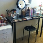 Ikea Makeup Desk Hack