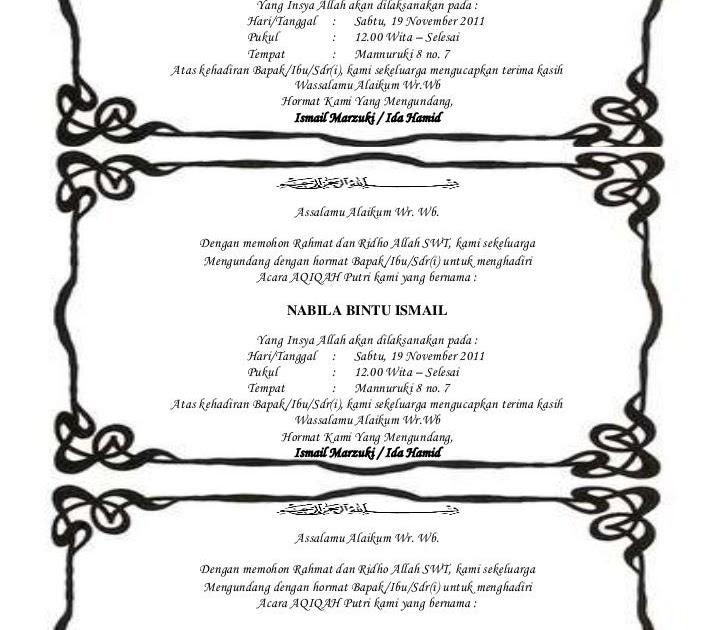 Undangan Kotak Nasi Pernikahan Doc Contoh Undangan Pernikahan
