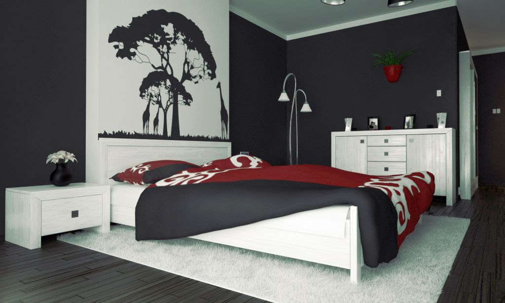 red and black bedroom ideas home
