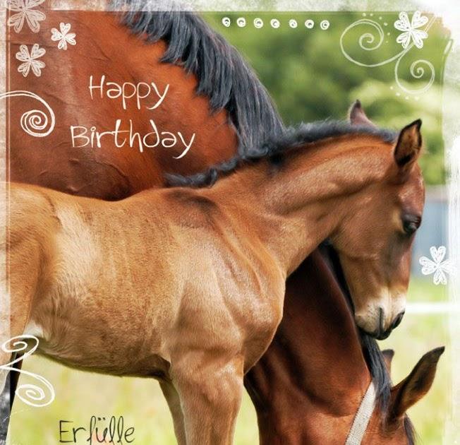Geburtstagsgrusse Mit Pferden Voller Gluck Geburtstagsgrusse