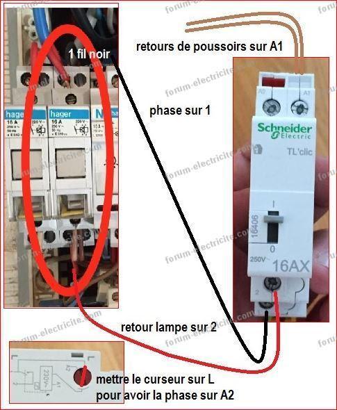 Cablage Telerupteur Schneider Tl Clic 16406