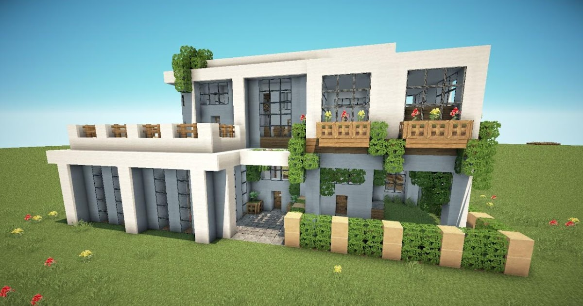 Koleksi 99 Desain Rumah Modern Minecraft Pe Terupdate