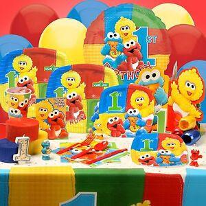 Sesame Street Elmo Birthday Party Supplies Pick Tablecover Birthday Party Ideas