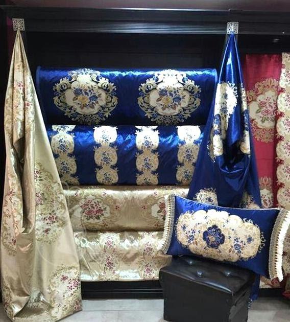 Salon Marocain Bleu Roi Et Gris Sema