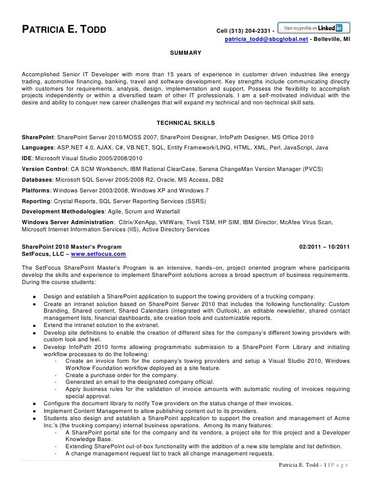 Resume Templates Cognos Administrator Sample Resume
