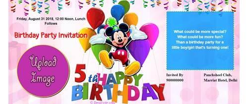 5th birthday invitation card matter in