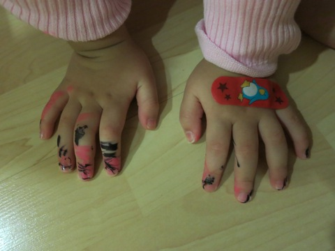 Yining's Painted Fingers