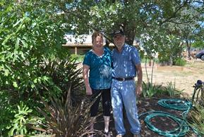 Maryruth and Gerald at home in Oroville