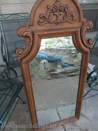 plastic ornate mirror