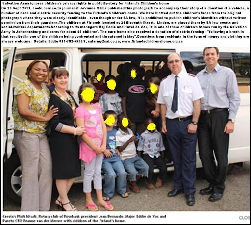 CHILDREN PRIVACY RIGHTS IGNORED LINDEN CHILDREN HOME DONATION SEPT 2011 UNIDENTIFIED FACES