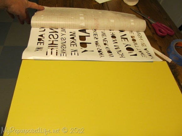 how to stencil with vinyl
