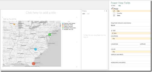 Basic map report in Power View