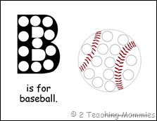 Baseball Magnet Pages