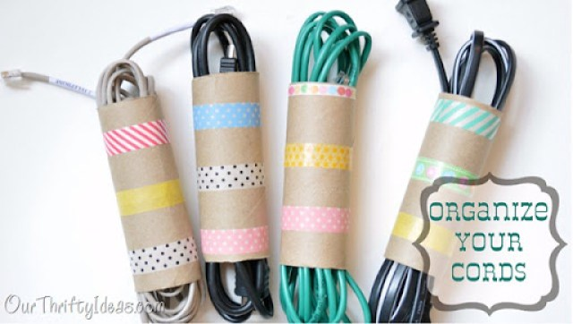 Our Thrifty Ideas: Organize and decorate your cords with Washi Tape