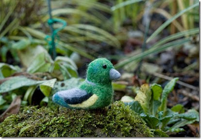 Needle Felted Garden Bird Greenfinch