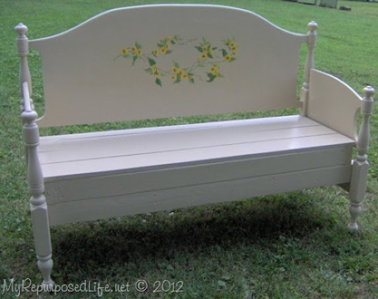 full sized maple headboard bench