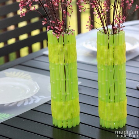 neon diy tutorial bambu vaso