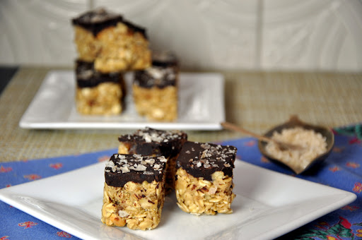 Peanut Oat and Apricot Bites with Salted Chocolate.JPG