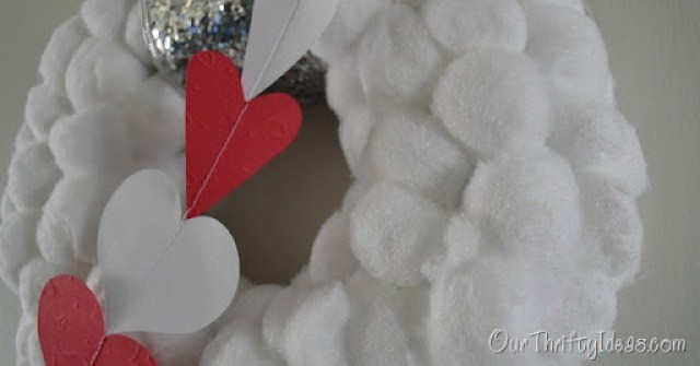 Our Thrifty Ideas: Dressing Up a Winter Wreath for Valentines Day