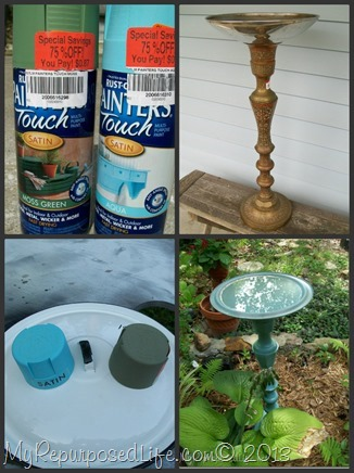My Repurposed Life-update thrift store finds with spray paint