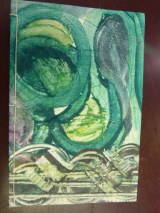 Front cover of my monoprinted art journal.