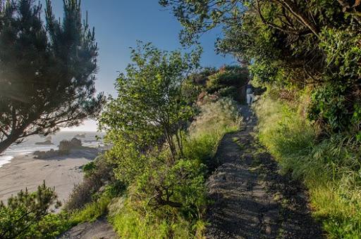 Rock Beach Trail at Harris Beach State Park