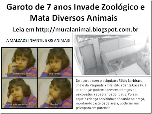 Garoto de 7 anos Invade Zoológico e Mata