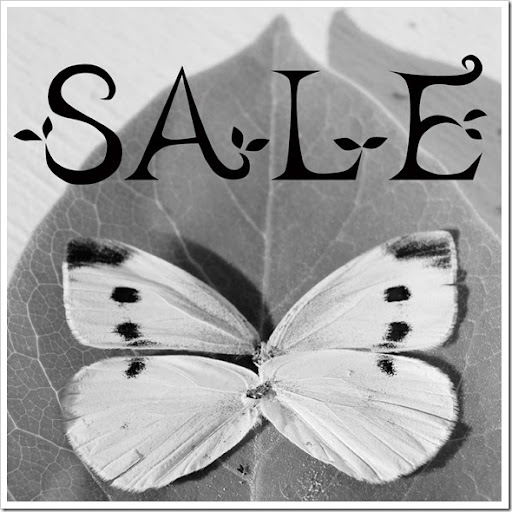 SALE WHITE BUTTERFLY LEAF LARGE