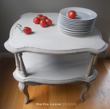 shabby two tiered table