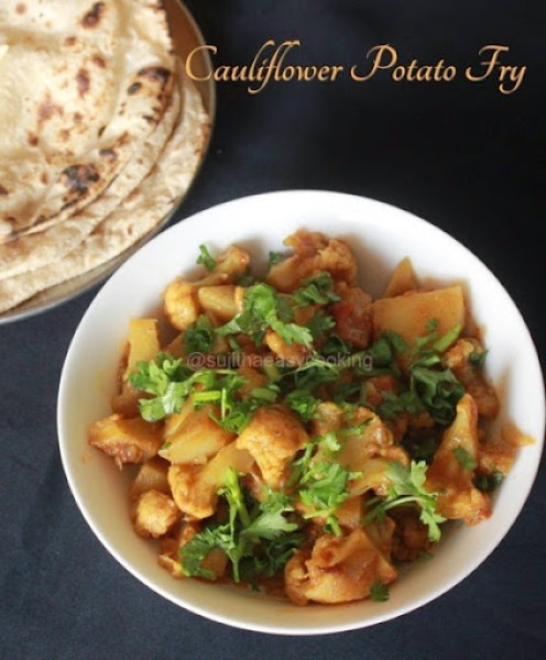 Cauliflower Potato Fry1