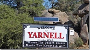 06 Yarnell AZ welcome sign