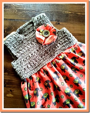 orange elephant crochet dress 3