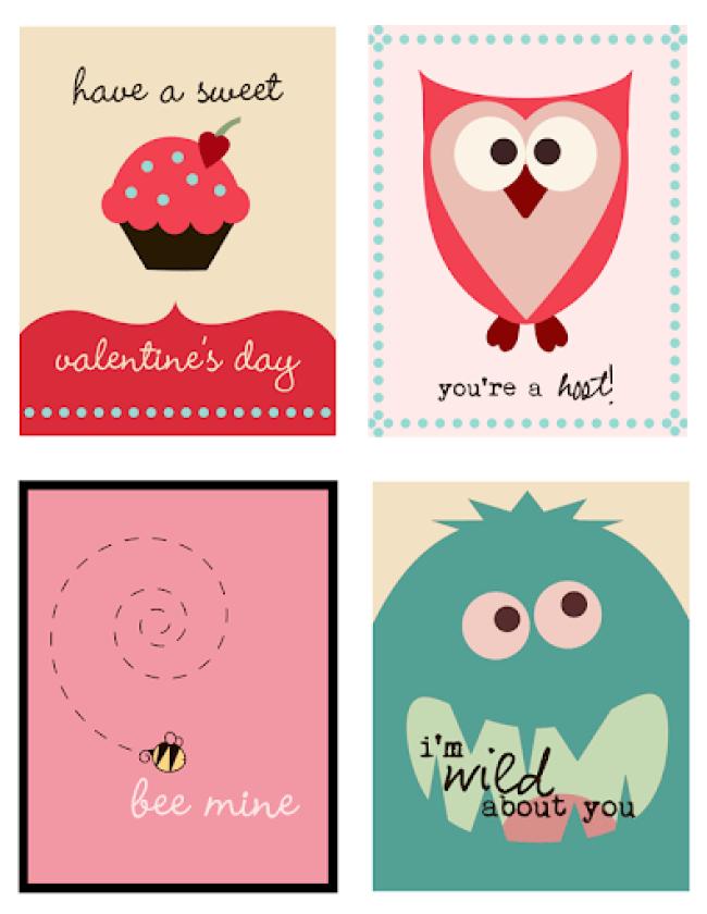 20 Free Valentine Card Printables from around Blog Land Poofy Cheeks – Valentine Card Printable