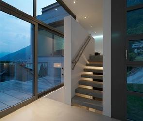 diseño escaleras casa de hormigon